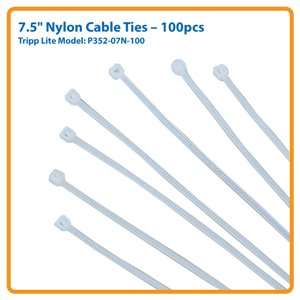 "100-pc. 7.5"" Nylon Cable Ties Pack"