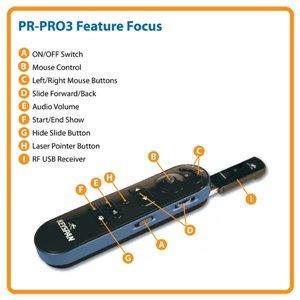 Wireless Presentation Remote w/ Laser Pointer & 100 ft. Range
