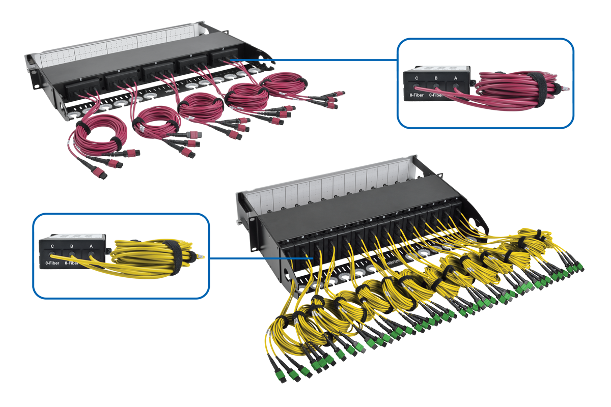 Tripp Lite 83 125 Breakout Fiber Patch Panel 40gb To 10gb 42 Wiring Harness Built In 8 Mtp Cables For Quick Deployment