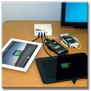 USB Charging Station + On-the-Go Hub = One Powerful Productivity Device for Tablets and Smartphones
