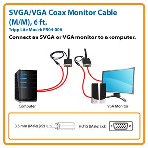 Delivers High-Definition Video and Stereo Audio to an SVGA/VGA Monitor