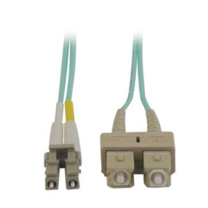 10Gb Duplex MMF 50/125 OM3 LSZH 16 ft. Fiber Patch Cable with LC/SC Connectors