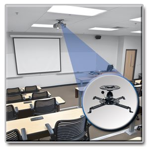 Save More Space with a Full-Motion Universal Ceiling Mount for Projectors