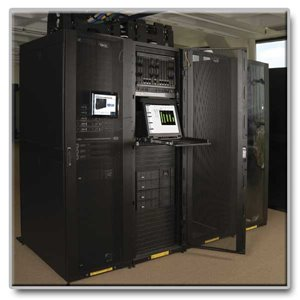 Secure and organize your equipment with this 42U, PCI-compliant, shallow-depth rack cabinet