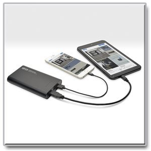Charge Up to Two Mobile Devices Anywhere, Anytime