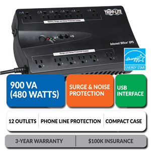 INTERNET900U Ultra-Compact Standby UPS with USB Interface