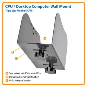 "Display CPU Desktop Computer Mount Open Frame 4"" - 6.25"""