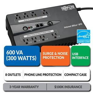INTERNET600U Ultra-Compact Standby UPS with USB Interface