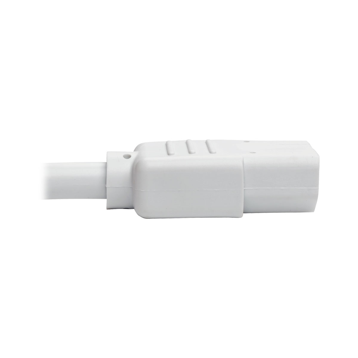 Tripp Lite Heavy Duty Power Extension Cord 15A 14 AWG C14 to C13 White 3'