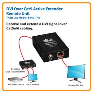 Receive and Extend a DVI Signal Over Cat5e/6 Cabling