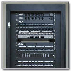 1U, 24-Port Cat5e/6 Patch Panel