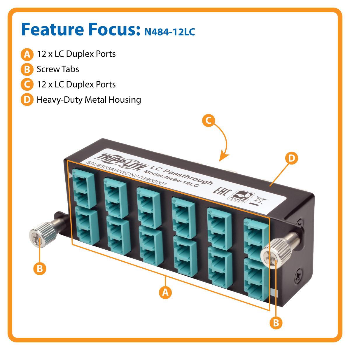 Product | Tripp Lite 10GbE High Density Pass-Through