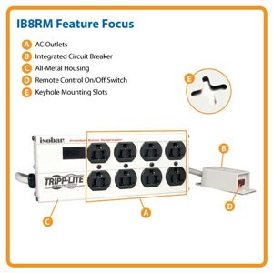 Powerful Isobar Surge Protection with Remote Control- America's Corporate Standard in Surge Suppression