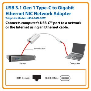 Connects Your USB Type-C Device to a Wired Ethernet Network