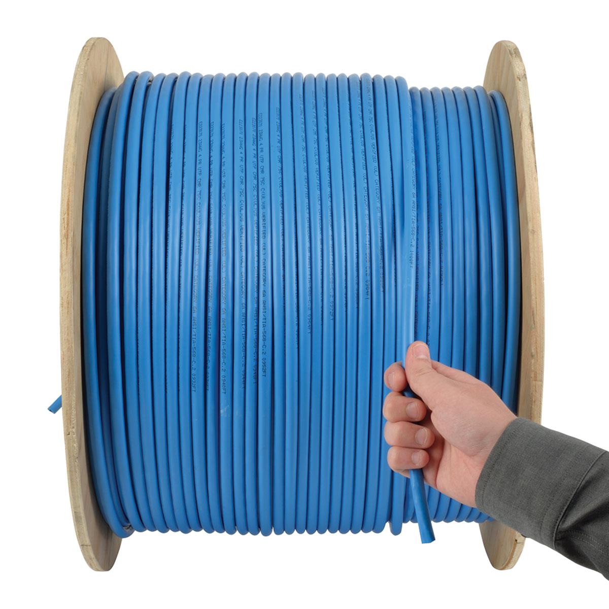 Tripp Lite 1000ft Cat6/Cat6a 10G Bulk Cable Solid Core CMR PVC Blue ...