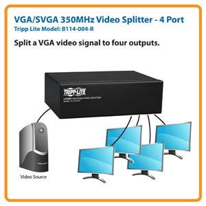 Extend a VGA/SVGA Signal Up to 210 ft. on Up to 64 Monitors