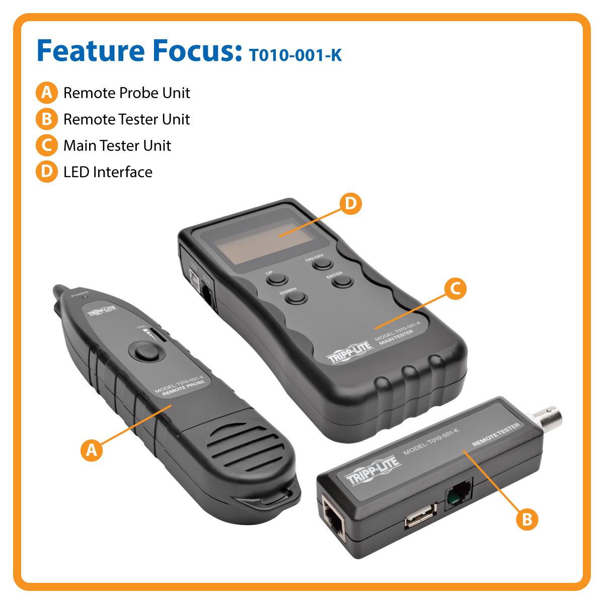 Tripp Lite Multi Function Cable Tester With Wire Tracker For Rj45 Short Circuit Finder Locator Tests Wiring Length Fault And Location