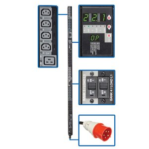 220/230V 3-Phase Power Distribution with a Digital Meter and Remote Control of 30 Outlets