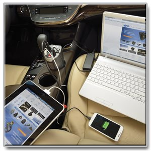 200 Watts of Portable Charging Power with Built-in USB Charging & Convenient Cup Holder Design