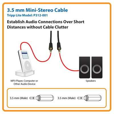 Establish a 1-ft. Audio Connection without Cable Clutter