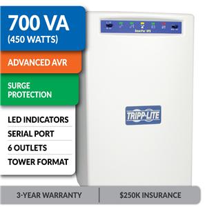 SMART700SER SmartPro® Line-Interactive Tower UPS with Serial Port