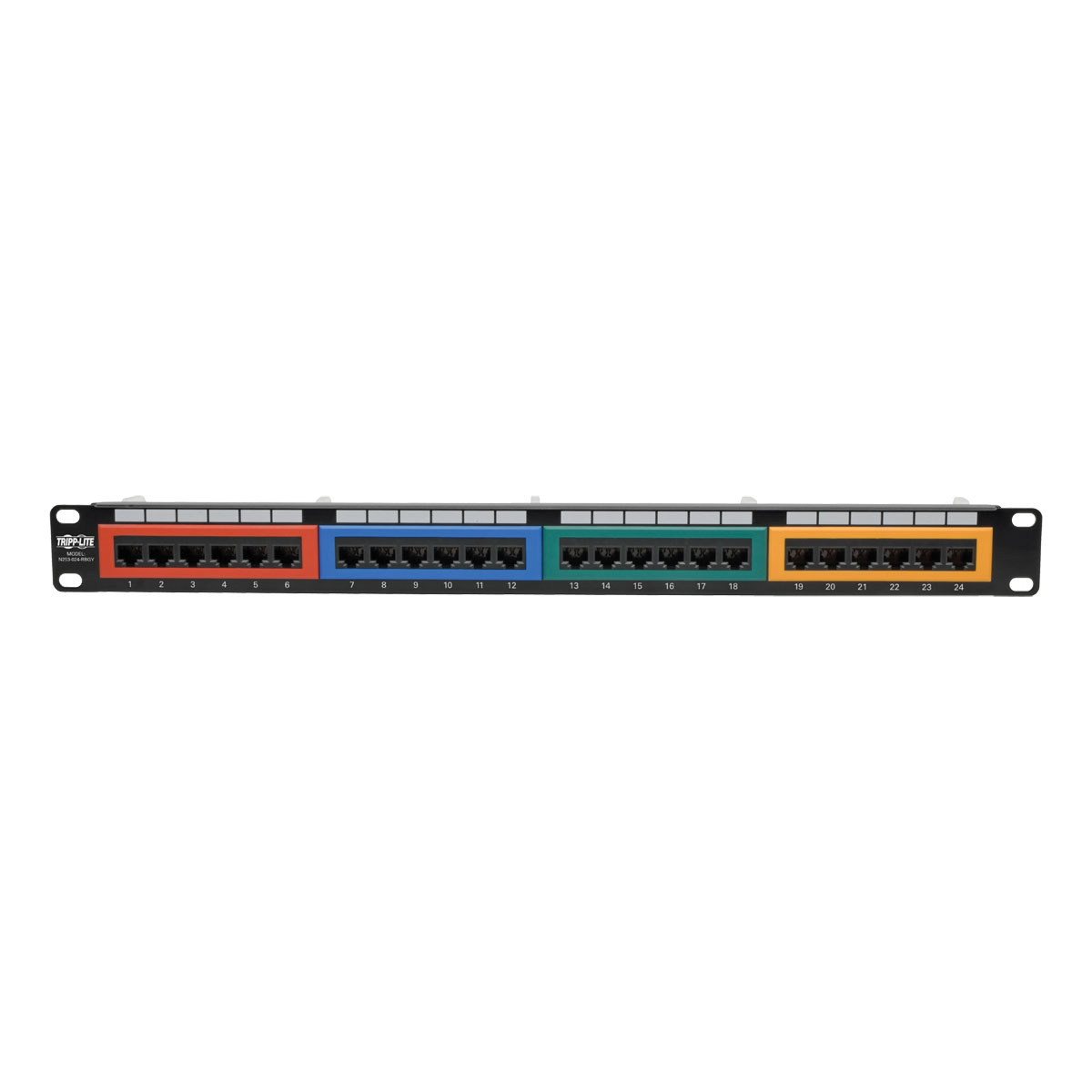 Tripp Lite 24 Port Cat6 Color Coded Patch Panel N253 024 Rbgy 568b Wiring