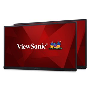 ViewSonic VG2453_H2 24 Inch Dual Pack Head-Only IPS 1080p Frameless Monitors with HDMI and DisplayPort for Home and Office