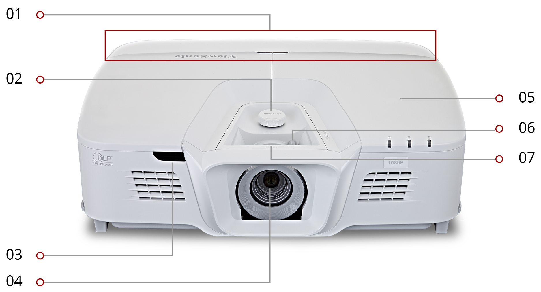 Viewsonic Projector Pro8530hdl Fhd 1080p 5200 Lm 150001 3d 16x 20w Cus In126a Lumens Hdmi Lens Shift