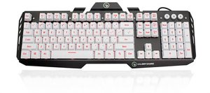 Kaliber Gaming HVER Aluminum Gaming Keyboard - Imperial White