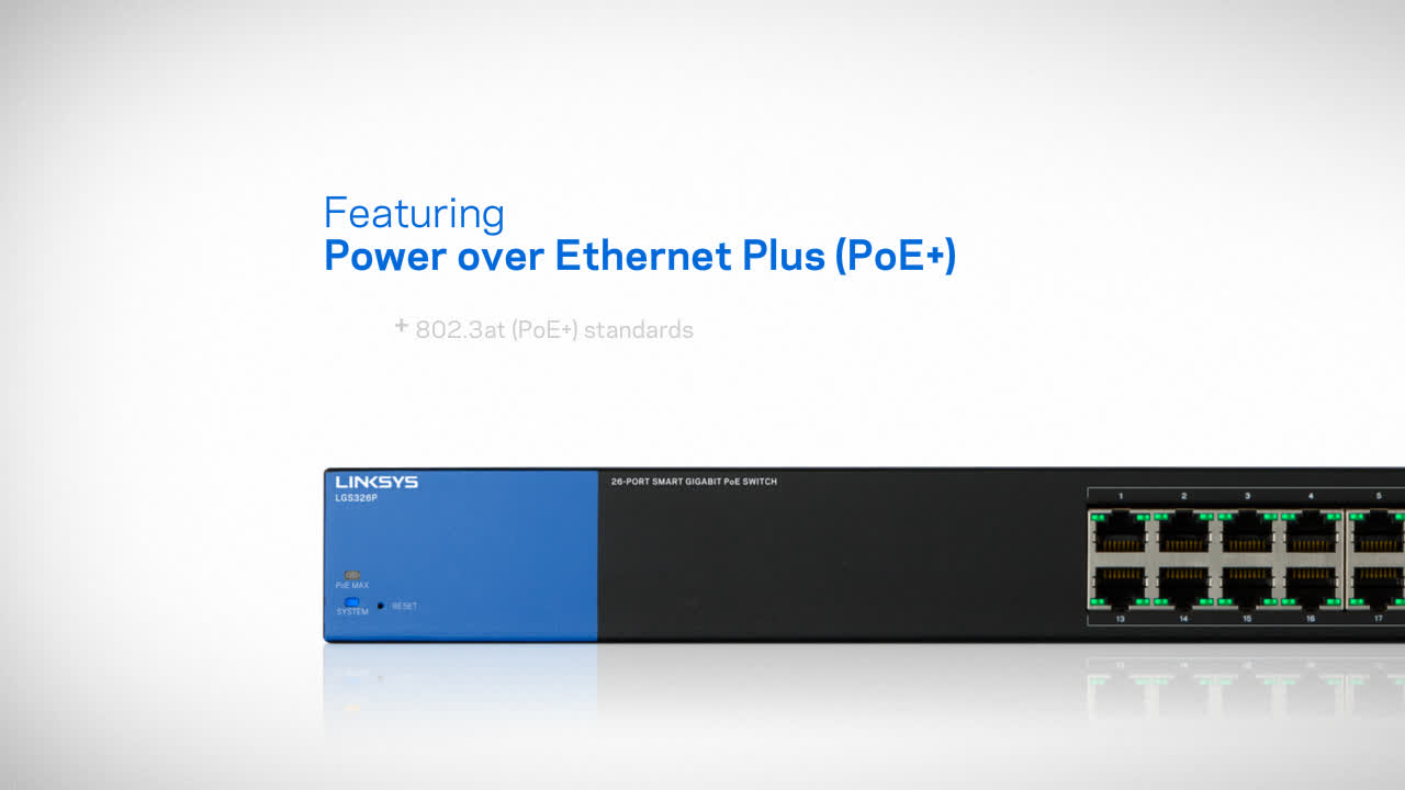 Linksys Business LGS318P 16-Port Gigabit PoE+ (125W) Smart