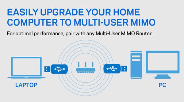 Linksys WUSB6100M Max-Stream™ AC600 Wi-Fi Micro USB Adapter