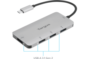USB-C Multi-Port Hub with 4x USB-A Ports, 10G