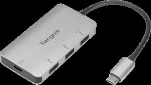 USB-C Multi-Port Hub with 3x USB-A Ports and 1x USB-C Port with 100W PD Pass-Thru