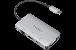 USB-C DP Alt Mode Single Video VGA Docking Station with 100W PD Pass-Thru