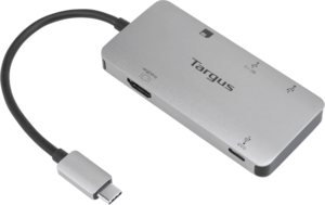 USB-C Multi-Port Single Video Adapter and Card Reader with 100W PD Pass-Thru