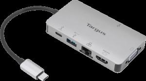 USB-C DP Alt Mode Single Video 4K HDMI/VGA Docking Station with 100W PD Pass-Thru