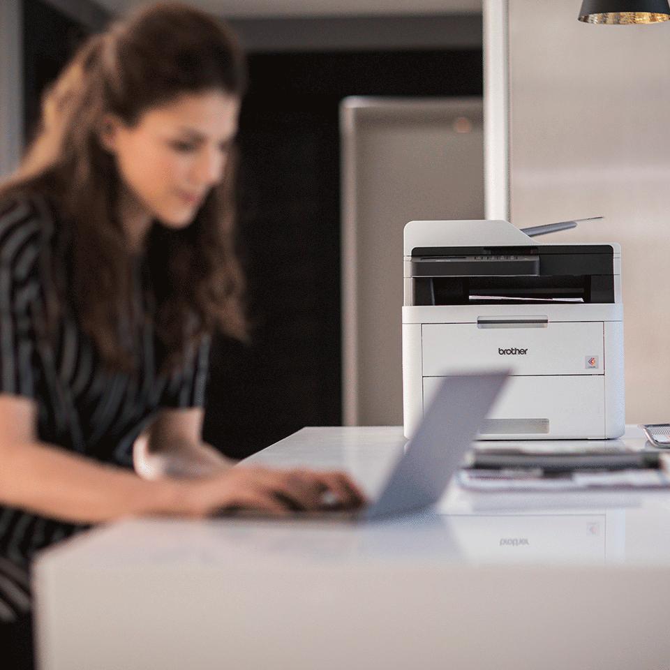 slide 1 di 4,mostra immagine ingrandita, mfc-l3730cdn stampante multifunzione led a colori con stampa fronte-retro automatica, ethernet