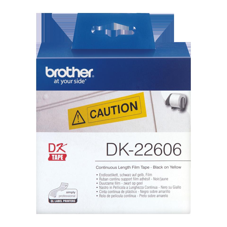 ENDLOS DRUCKER ETIKETTEN 62mm x 15.24m GELB für BROTHER P-touch QL-560VP