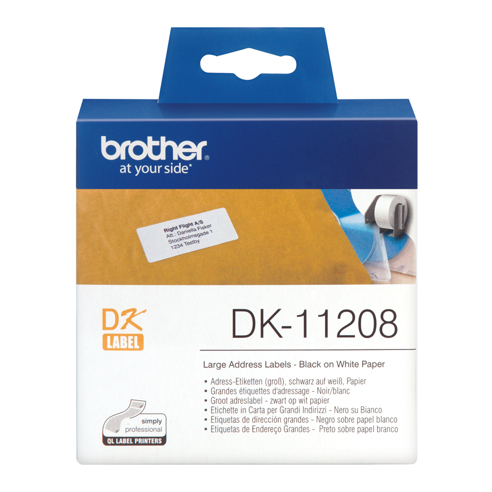 Brother Adress Etiketten Dk11208 Schriftband 38x90 Mm 400 Etiketten
