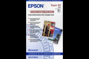 Premium Semigloss Photo Paper, DIN A3+, 250g/m², 20 Sheets