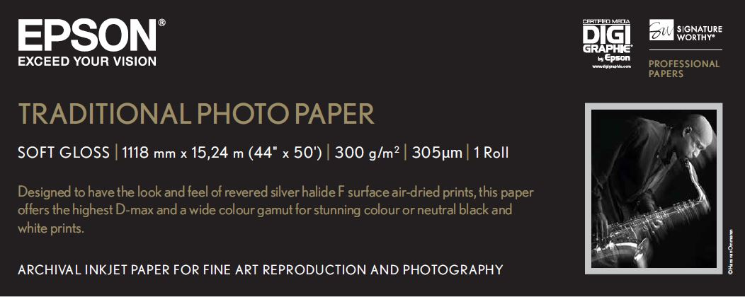 Traditional Photo Paper 44in X 15m