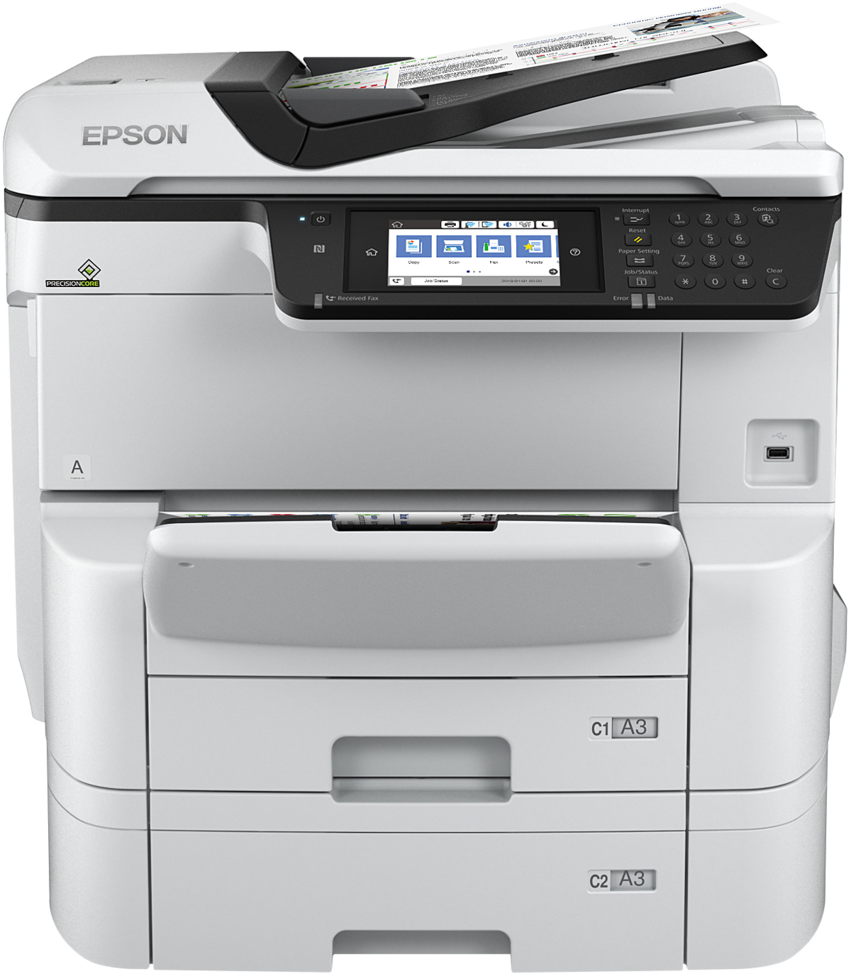 Workforce Pro Wf-c8690dtwf - Color All-in-one Printer - Inkjet - A3 - Wi-Fi  / Ethernet / USB