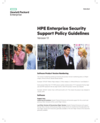 HPE Enterprise Security Support Policy Guidelines Version 1.1 data sheet