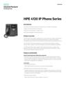 HPE 4120 IP Phone Series data sheet