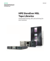 HPE StoreEver MSL Tape Libraries: Unattended backup, DR, and archiving for your business data sheet