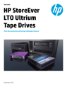 HPE StoreEver LTO Ultrium Tape Drives: Meet data protection and storage challenges head-on data sheet
