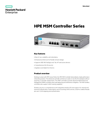 HPE MSM Controller Series data sheet
