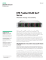 HPE ProLiant DL80 Gen9 Server Affordable storage and scalability data sheet