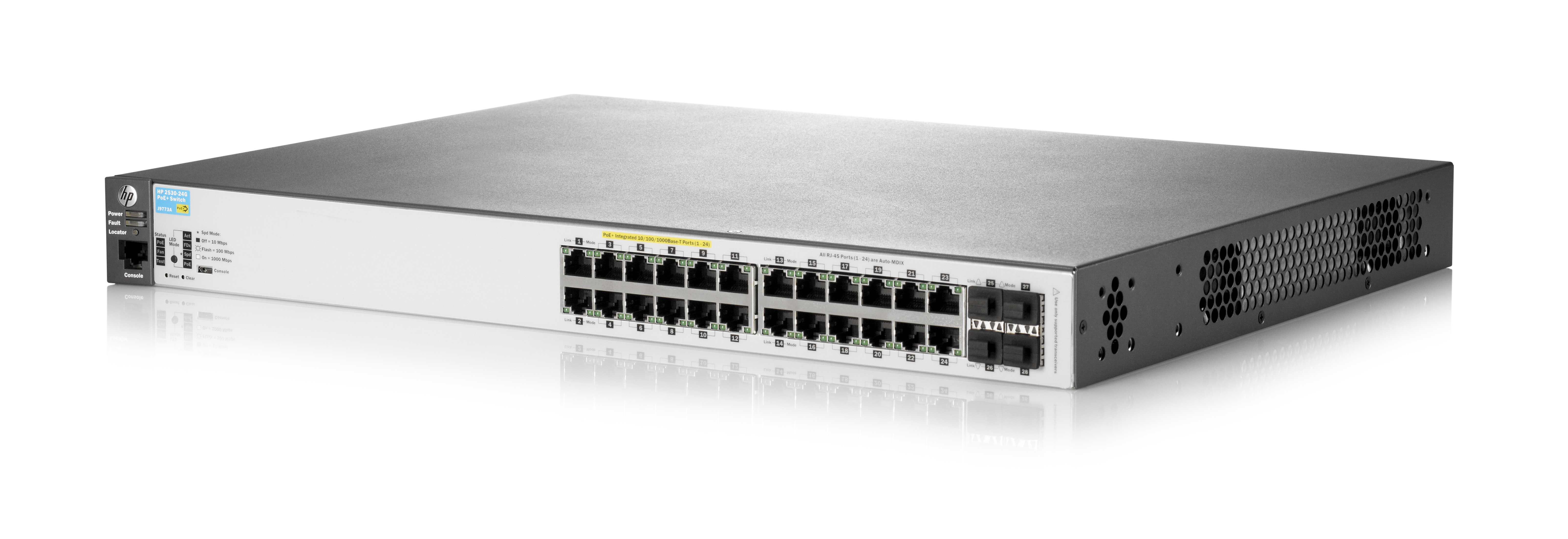 HPE Aruba 2530-24G-PoE+ (Voltage: AC 120/230 V (50/60 Hz))