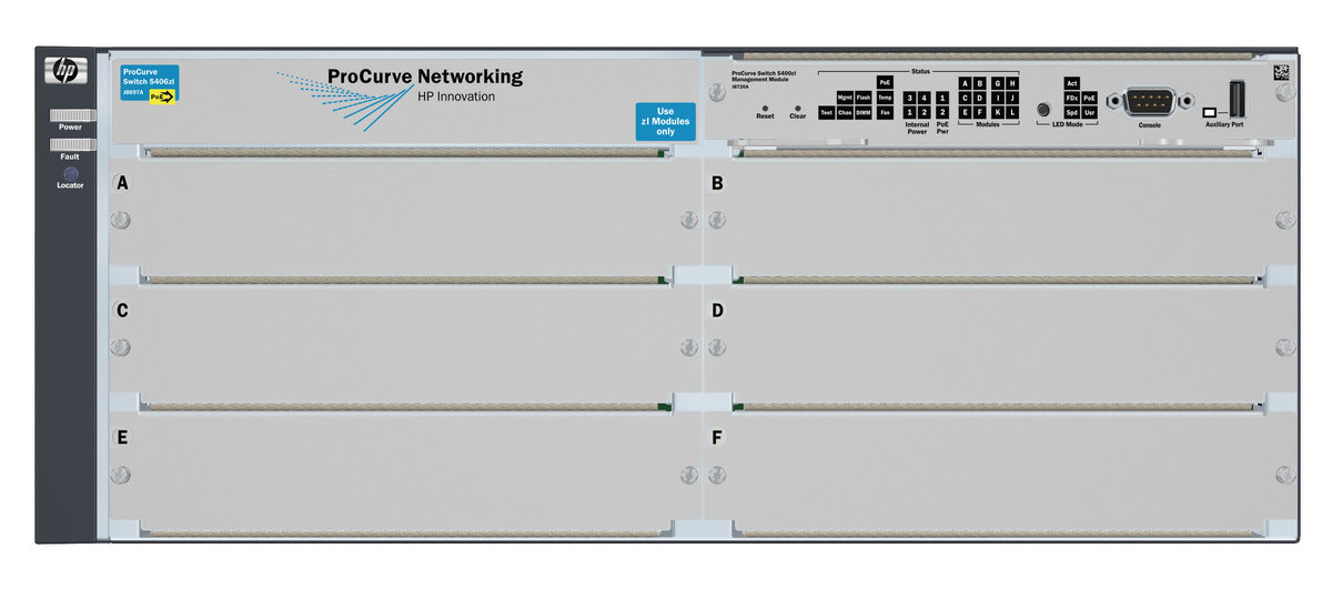 Hewlett Packard Enterprise E5406 zl Switch Chassis Managed